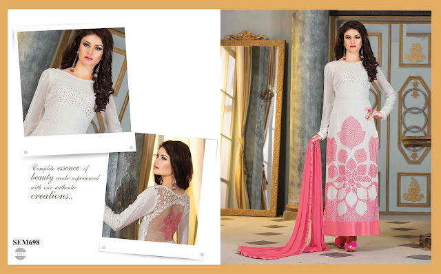Buy Fancy Designer Semi Georgette Salwar Suit
