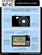 How to snapshoot a baseball gamethe settings.