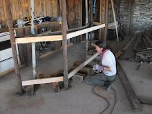 support poles also bar frame
