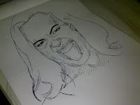 Luciana Leal - desenho com caneta esferográfica nº2
