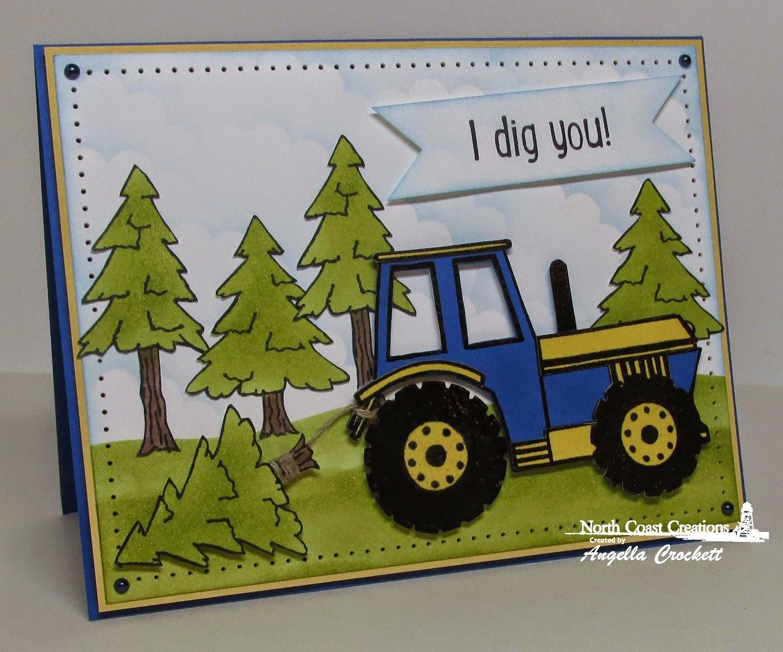 North Coast Creations I Dig You and Happy Camper, Card Designer Angie Crockett
