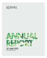 Kernel, annual, 2015, report, front page