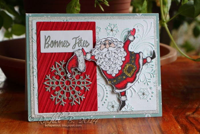 Impression Obsession Holiday card Santa Darice