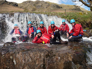 Gorge walking sessions in North West England. Kendal Mountaineering services.