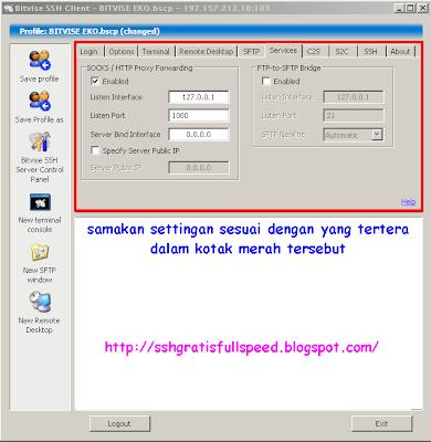 cara menggunakan ssh dengan software bitvise