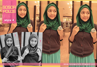 Tutorial Jilbab Sosor Polos Style 4