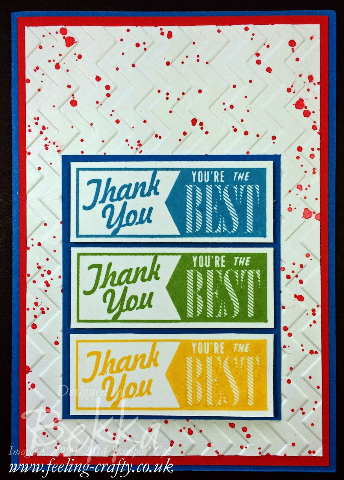 Thank You Card using the Hello Lovely Stamp Set from Stampin' Up! - check out this UK blog for lots of great projects using Stampin' Up! Supplies