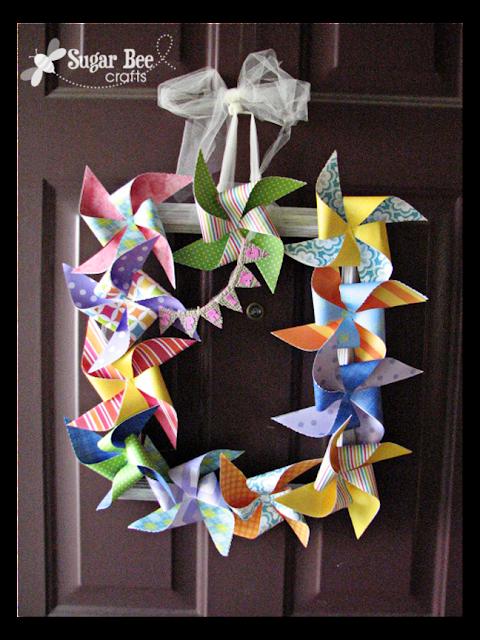 Pinwheel Frame Wreath Sugar Bee Crafts