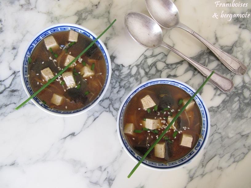 Framboises bergamote soupe miso - Soupe miso ingredient ...