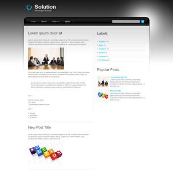 Solution blog template. download blogger template business