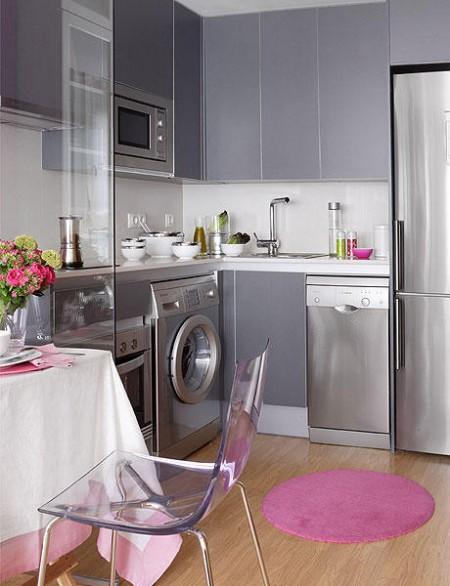 Dise o de cocinas peque as for Cocina con electrodomesticos