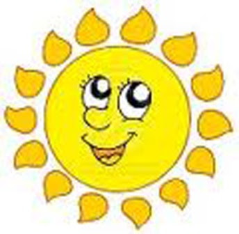 Mr. Sun has come out to play!