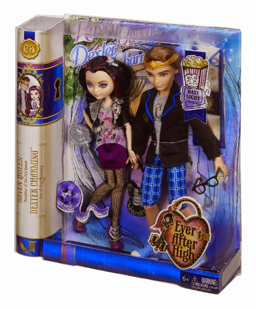 JUGUETES - EVER AFTER HIGH Date Night  Raven Queen & Dexter Charming | Pack | Muñecas  Producto oficial | Mattel | A partir de 6 años