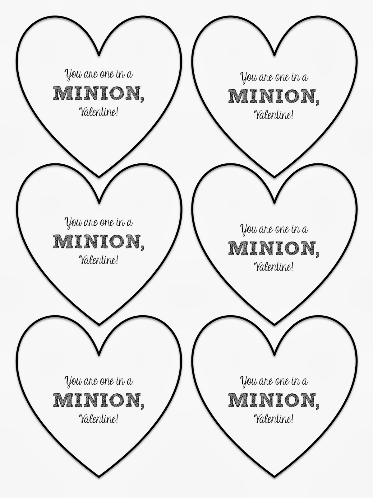 Mesmerizing image for you re one in a minion printable