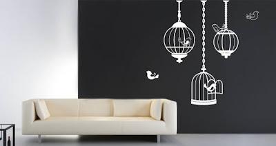 birdcage wall decals