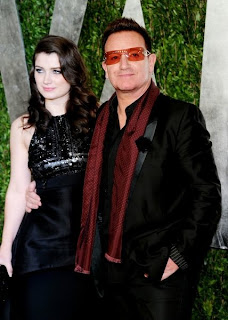 Bono and Eve at the Vanity Fair party
