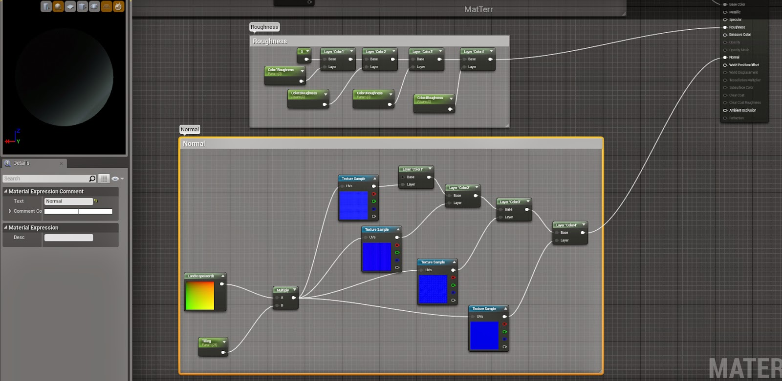 Landscape material network 3