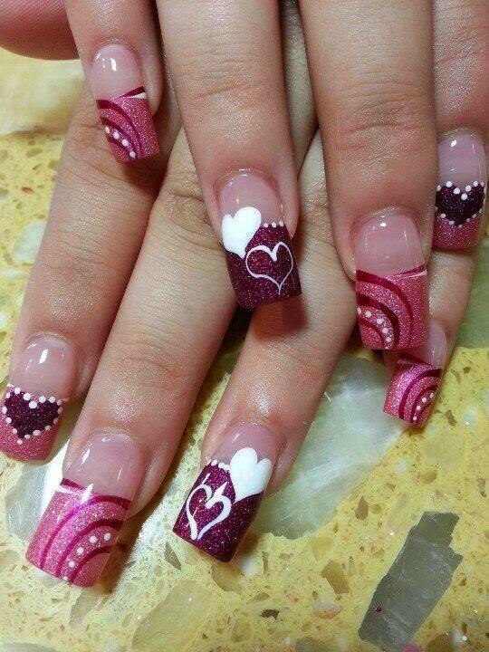 Como pintar as unhas no dia  de S. Valentim