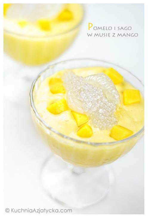 Pomelo i sago w musie z mango © KuchniaAzjatycka.com