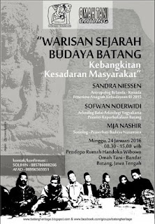 EVENT: 24 Januari 2016 | Warisan Sejarah Budaya Batang – Kebangkitan Kesadaran Masyarakat