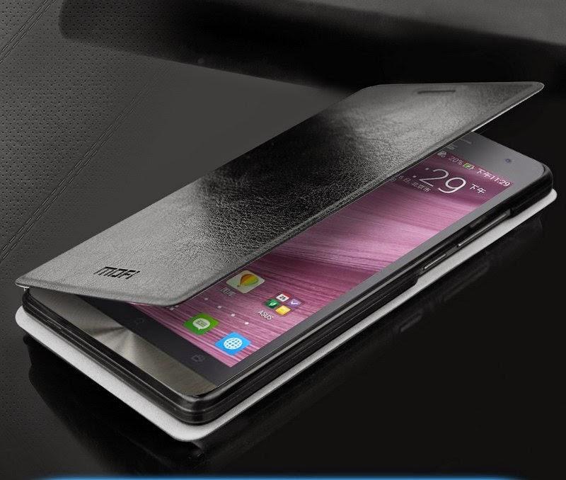 Leather-Case-Asus-Zenfone-6-MOFI-Rui-Series-Stand-Black