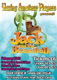 Thank you Yaxley players – Jack and the beanstalk 2013