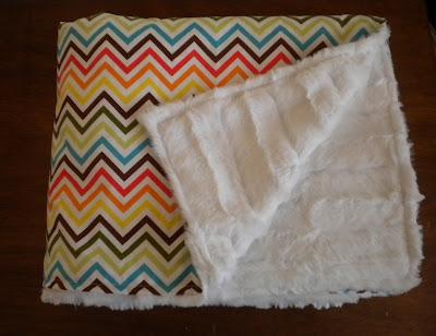 diy chevron baby blanket home depot center. Black Bedroom Furniture Sets. Home Design Ideas