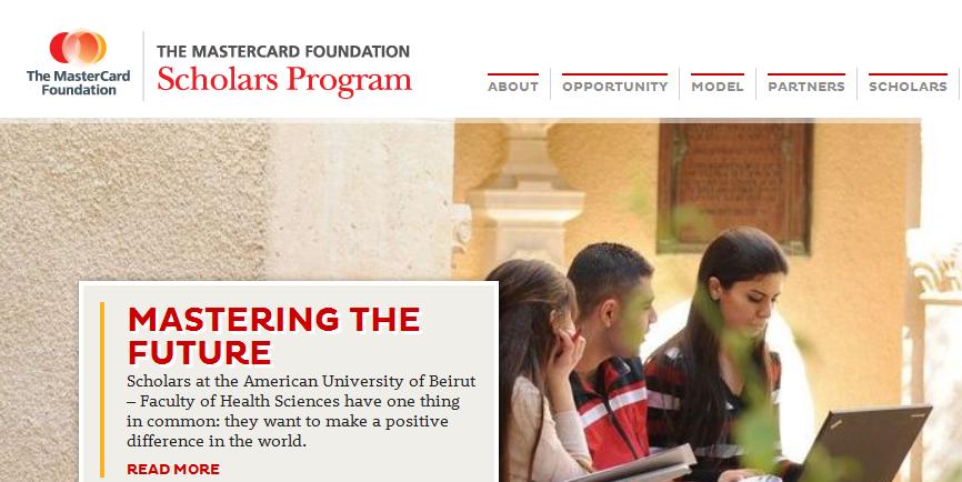 Mastercard Scholarships 2015