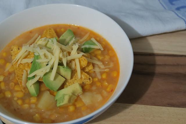 Corn, chile, and potato soup | salt sugar and i