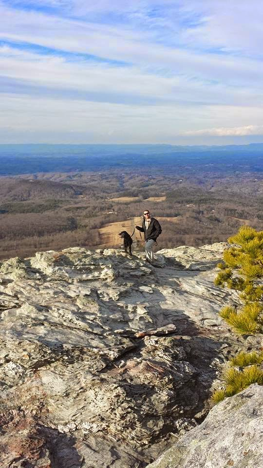 Jarrett and BeeGee on top of Hanging Rock