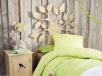 Dormitorio para Niña con una cabecera muy original