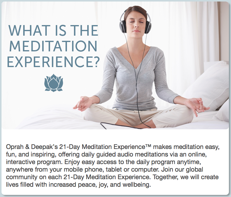 Deepak chopra meditation video