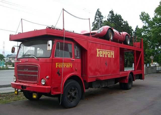 Ferrari F1 old truck