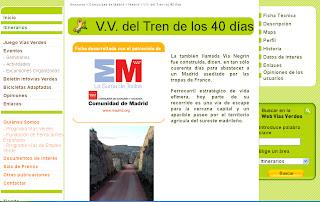Vía Verde del Tren de los 40 Días en la web de Vías Verdes