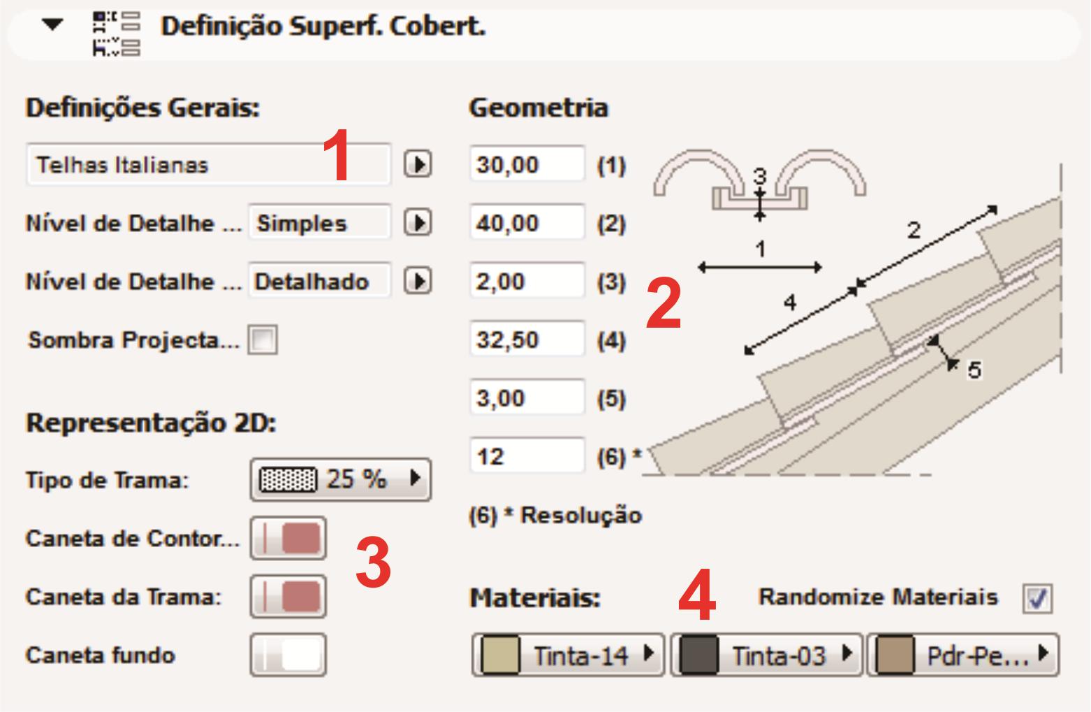 4º ETAPA: COMO DEFINIR AS CARACTERISTICAS DAS TELHAS #B51C16 1562x1019