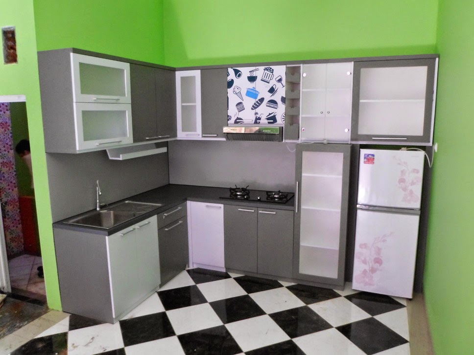 Kitchen Set Hitam Putih Monochromatic Kitchen Set Custom