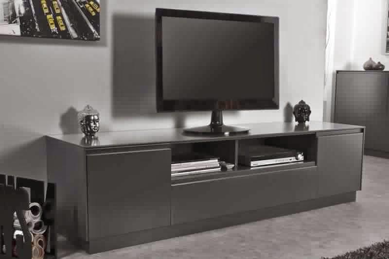 Meuble TV noir mat  Meuble TV -> Meuble Téle Noir Mat