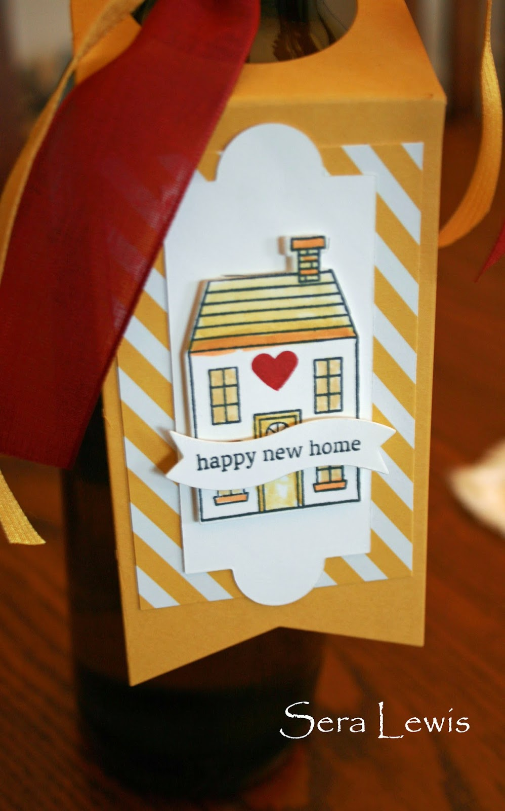 Wine bottle gift tag on Pink Paper Bakery for housewarming gift