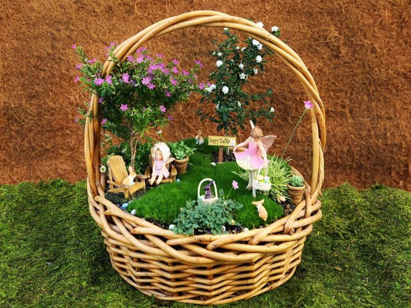 Basket Mini Fairy Garden Ideasjpg 800600 PEQUEOS JARDINES