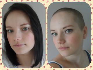 Fundrising shaved women heads