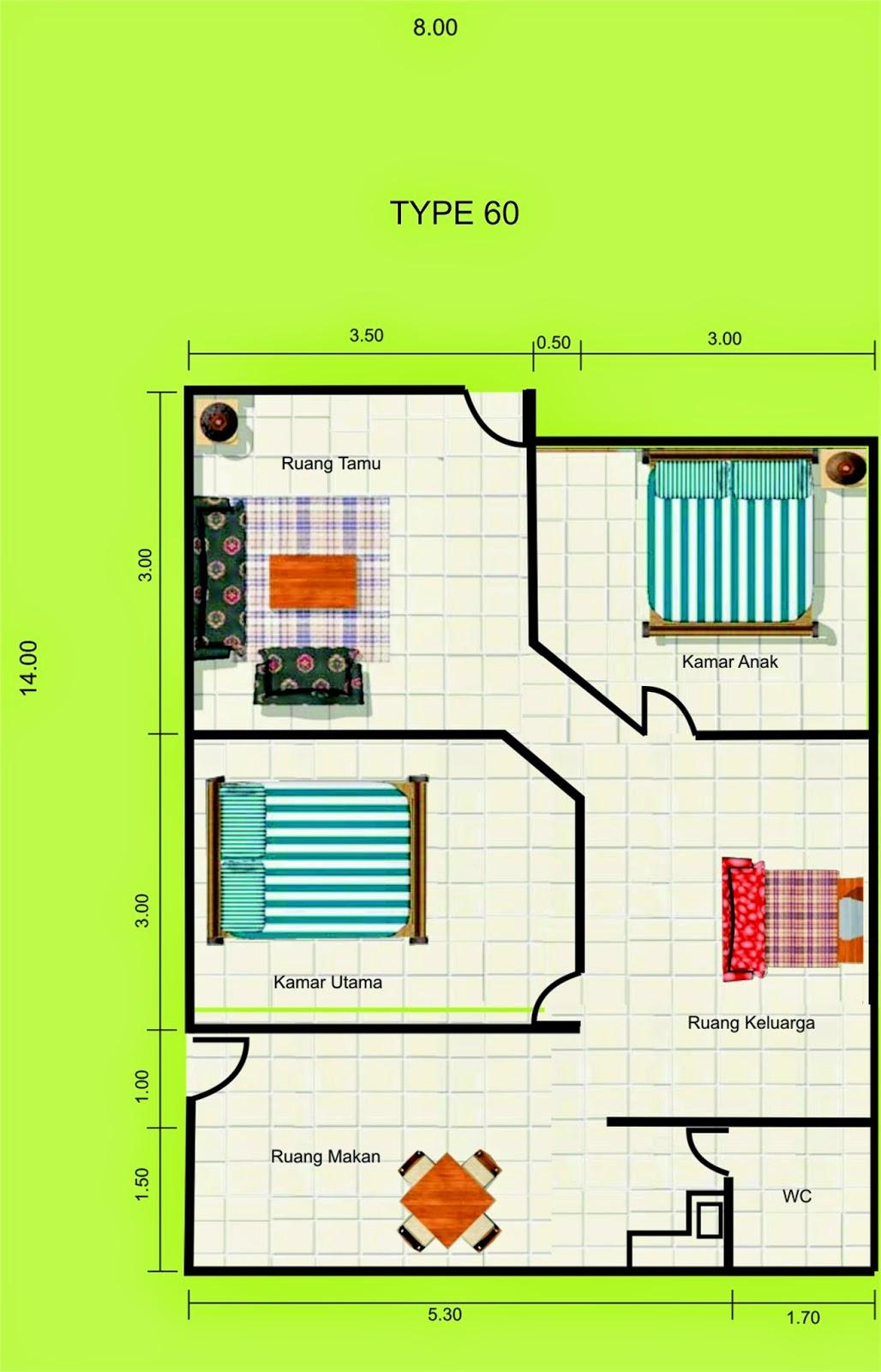 Gambar Rumah TYpe 60 Minimalis
