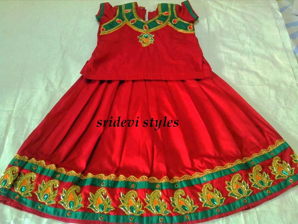 Sridevi Styles Kids Dresses With Hand Embroidery For Sale