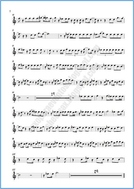 Partitura Píntame para flauta o violín hoja 2