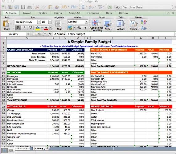 debt worksheet excel