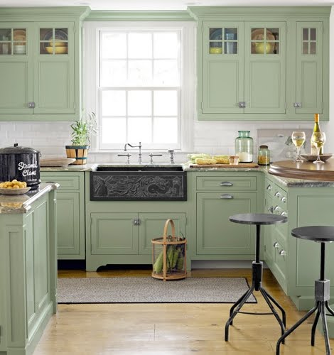 Seaside Coastal Kitchen With: A Seaside Home In Summer Colors