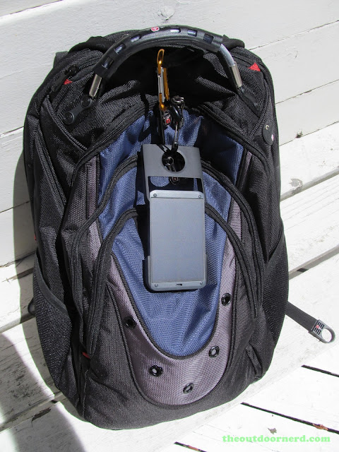 Waka Waka Power: Solar Lantern And Mobile Charger, Attached To My SwissGear Backpack