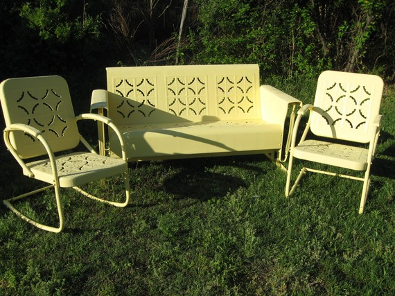 Vintage Farmhouse Vintage Metal Porch Glider