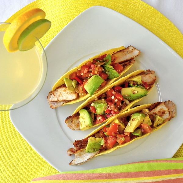Spicy Barbeque Pork Chop Tacos with Chunky Avocado Salsa