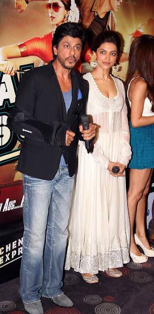 Shahrukh, Rohit & Deepika Padukone @ Chennai Express Trailer Launch-2