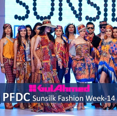 Gul Ahmed Summer Collection Pakistan Fashion Week Dubai 2014